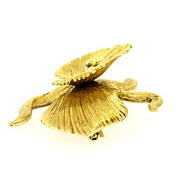 Tiffany & Co. Flower Pin Brooch Large 18k Gold Italy Vintage 3D