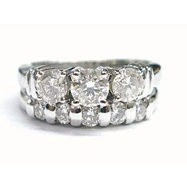 Fine Round Cut Diamond Engagement Wedding Set White Gold 1.50CT