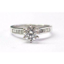 Natural Round Cut Diamond White Gold Engagement Ring .86Ct G-VS1