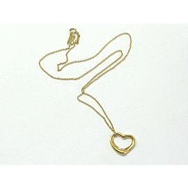 Tiffany & Co Elsa Peretii Open Heart Pendant Necklace 18Kt