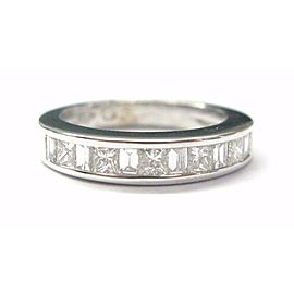 18Kt Multi Shape Diamond Band Ring 1.08CT Solid White Gold