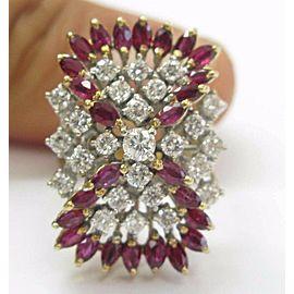 Fine Gem Ruby Designer Diamond Jewelry Ring Yellow Gold 2.35CT