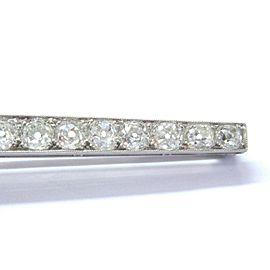 """Platinum Vintage NATURAL Old Mine Diamond Milgrain Brooch 25-Stones 4.25"""" 7.45Ct"""
