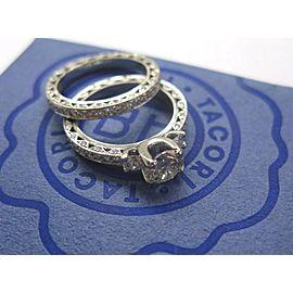 Tacori Platinum NATURAL Diamond Engagement Wedding Set 2.87CT AGS