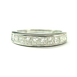 18Kt Princess Cut Diamond 10-Stone Band Ring 4 1.20Ct