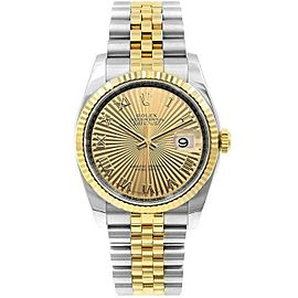 Rolex Datejust 116233 36mmSteel & Yellow Gold Champagne Roman Women's Automatic