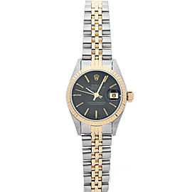 Rolex Datejust 6917 26mmSteel & Yellow Gold Black Tapestry Women's Automatic