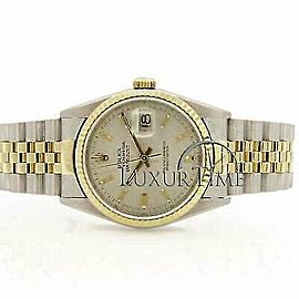 Rolex Datejust 16233 36mmSteel & Yellow Gold Silver Women's Automatic