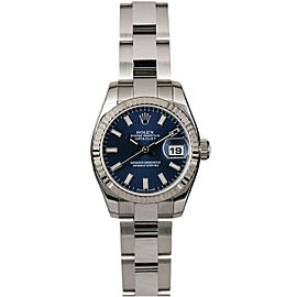 Rolex Datejust 179174 26mmStainless Steel Blue Index Women's Automatic