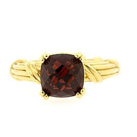 Peter Thomas Roth PTR Ring 18k Yellow Gold Garnet Ribbon Reed Fantasies sz 10