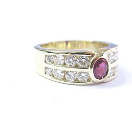 Fine Gem Ruby & Diamond Yellow Gold Jewelry Ring 14KT 2.36Ct