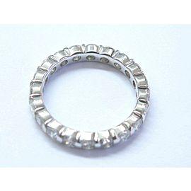 Fine Round Cut Diamond Bar Setting Eternity Band Ring 1.50Ct 20-Stones SZ 5 1/4