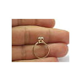 Fine Round Cut Diamond Solitaire Yellow Gold Ring .61CT F-VS2