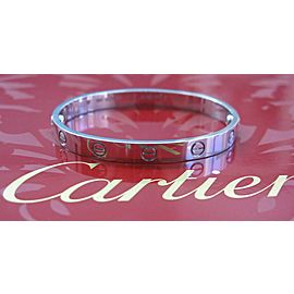 Cartier 18Kt Love Bracelet / Bangle White Gold Size 16 FT5543