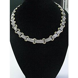 """Two-Tone Princess Cut Diamond Necklace Invisible Setting 18KT 20.68Ct 18"""""""