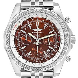 Breitling Bentley Motors Bronze Dial Chronograph Steel Mens Watch A25362