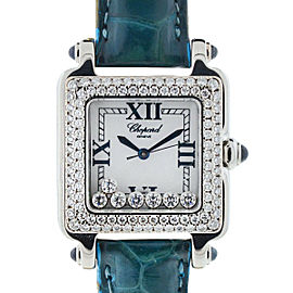 Chopard Happy Sport Square Floating Diamonds Ladies Watch