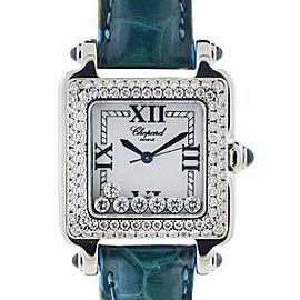 Chopard Happy Sport Square Floating Diamonds Ladies Watch