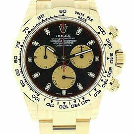 Rolex Daytona 116508 Men's Yellow Gold 40mm Automatic 1 Year Warranty