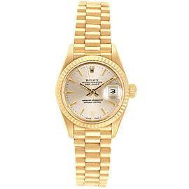 Rolex Datejust 26mm 69178 Women's Silver Index Yellow Gold 26mm 1 Year Warranty