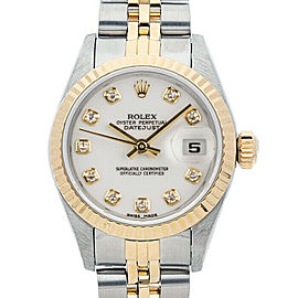 Rolex Datejust 26mm 6917 Women's White Diamond Yellow Gold 26mm 1 Year Warranty