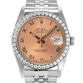 Rolex Datejust 36mm 16234 Unisex Salmon Roman White Gold 36mm 1 Year Warranty
