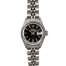 Rolex Datejust 26mm 6916 Women's Black Index White Gold 26mm 1 Year Warranty