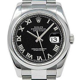 Rolex Datejust 36mm 116200 Unisex Black Roman Steel 36mm 1 Year Warranty
