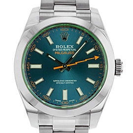 Rolex Milgauss 116400 Men's Blue Stainless Steel 40mm Automatic 1 Year Warranty