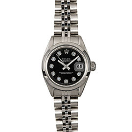 Rolex Datejust 26mm 6916 Women's Black Diamond Steel 26mm 1 Year Warranty