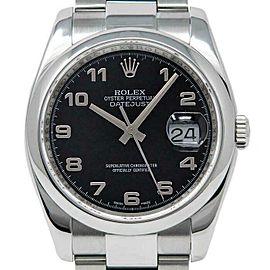 Rolex Datejust 36mm 116200 Unisex Black Arabic Steel 36mm 1 Year Warranty