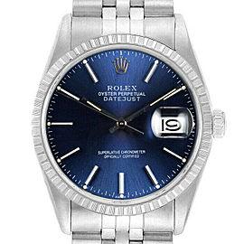 Rolex Datejust 36mm 16220 Unisex Blue Index Stainless Steel 36mm 1 Year Warranty