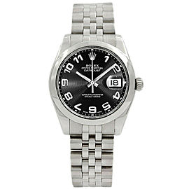 Rolex Datejust178240 Women's Black Concentric Arabic Steel 31mm 1 Year Warranty