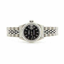 Rolex Datejust 26mm 69174 Women's Black White Gold 26mm 1 Year Warranty
