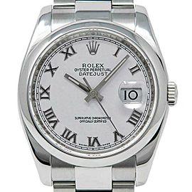 Rolex Datejust 36mm 116200 Unisex White Roman Steel 36mm 1 Year Warranty