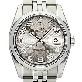 Rolex Datejust 36mm 116200 Unisex Silver Concentric Steel 36mm 1 Year Warranty