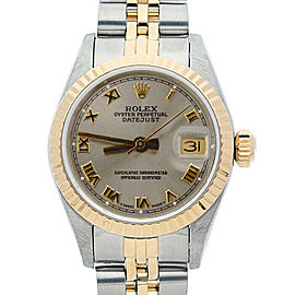 Rolex Datejust 26mm 6917 Women's Silver Roman Yellow Gold 26mm 1 Year Warranty