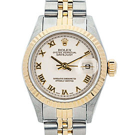 Rolex Datejust 26mm 6917 Women's White Roman Yellow Gold 26mm 1 Year Warranty