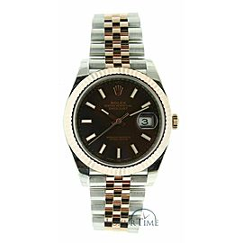 Rolex Datejust 41 126331 Men's Rose Gold 41mm Automatic 1 Year Warranty