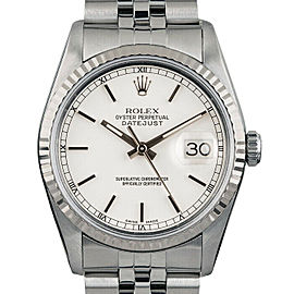 Rolex Datejust 36mm 16014 Unisex White Index White Gold 36mm 1 Year Warranty