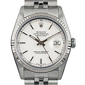 Rolex Datejust 36mm 16014 Unisex White Index White Gold 36mm 1 Year Warranty