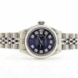 Rolex Datejust 26mm 6916 Women's Blue White Gold 26mm Automatic 1 Year Warranty