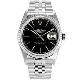 Rolex Datejust 36mm 16234 Unisex Black Index White Gold 36mm 1 Year Warranty