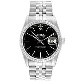 Rolex Datejust 36mm 16220 Unisex Black Index Steel 36mm 1 Year Warranty