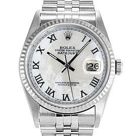 Rolex Datejust 36mm 16234 Unisex White MOP White Gold 36mm 1 Year Warranty