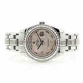 Rolex Masterpiece 18956 Women's Silver Platinum 39mm Automatic 1 Year Warranty