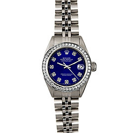 Rolex Datejust 26mm 6916 Women's Blue Diamond White Gold 26mm 1 Year Warranty