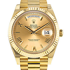 Rolex Mens Yellow Gold President Day-Date 228238 Champagne Roman Dial UNWORN