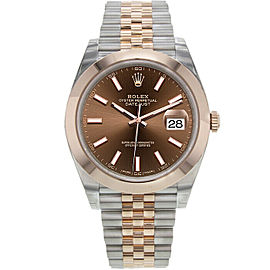 Rolex Datejust II 126301 Jubilee Chocolate Steel Rose Gold 41mm 1YearWarranty