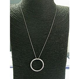 Circle of Life Diamond Pendant Necklace 14Kt White Gold 31-Stones 1.50Ct 1.25""